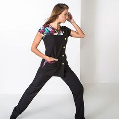 Avental Francês bicolor - Global Uniformes Overalls, Pants, Fashion, Apron, Trouser Pants, Moda, Fashion Styles, Women's Pants, Women Pants