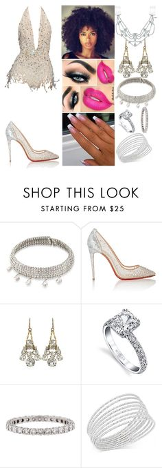"""""""London"""" by the-wanted-potato ❤ liked on Polyvore featuring Zuhair Murad, Carolee, Christian Louboutin, Lulu Frost, Harry Kotlar, Tiffany & Co., INC International Concepts, Jennifer Behr and InnocenceTour"""