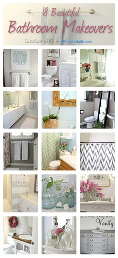 18 Beautiful Bathroom Makeovers! Great inspiration...check this out!