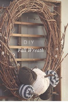 Make this pretty sweater pumpkin, fall wreath with this easy tutorial. Happy…