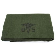 """Beautiful reproduction of the U.S. Army medical wool blanket. A very nice 80% wool, 4.4lbs and measures 62""""x90"""". They are so soft to the touch, just an incredible high quality blanket from Swiss Link's classic wool line."""