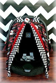 Arizona CARDINALS car seat canopy car seat by JaydenandOlivia, $69.99