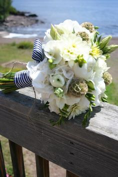 Nautical Preppy Bouquet ... Wedding ideas for brides & bridesmaids, grooms & groomsmen, parents & planners ... https://itunes.apple.com/us/app/the-gold-wedding-planner/id498112599?ls=1=8 … plus how to organise an entire wedding, without overspending ♥ The Gold Wedding Planner iPhone App ♥