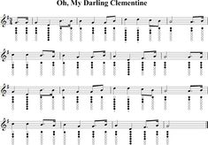 Oh, My Darling Clementine Sheet Music for Tin Whistle