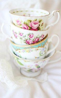 Vintage china tea cups
