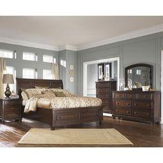Porter 5-Piece King Storage Bedroom Set in Burnished Brown | Nebraska Furniture Mart