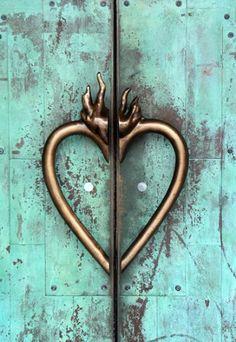 Heart on Fire - Ian Ransley Heart Illustration, Fire Doors, Follow Jesus, Fire Heart, Door Furniture, Types Of Doors, Door Knockers, All You Need Is Love, Sacred Heart