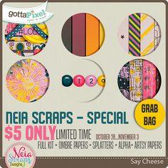Say Cheese Grab Bag :: Grab Bags :: Kits :: Gotta Pixel Digital Scrapbook Store by Neia Scraps