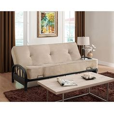 "Aiden Futon Frame with 8"" Innerspring Full Futon Mattress, Multiple Colors: Furniture : Walmart.com"