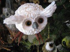 Snowy Owl tree ornament :) cute!