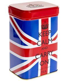 Keep Calm English Breakfast Tea Tin.