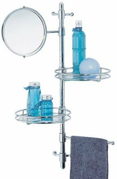 Organize It All Bath Shelf with Mirror, 2 Trays, and 1 Bar by Organize It All. Save 40 Off!. $29.96. 2 Trays. Creates extra counter space. Chrome finish. Glass mirror. Towel bar. Chrome bath shelf with tempered glass mirror, 2 trays, and 1 bar