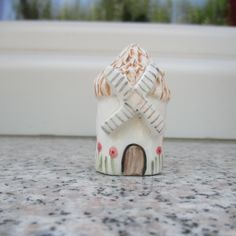 Little Ceramic Windmill,Miniature Windmill,Little Clay House,Thatched Roof,Windmill,Miniature House,Terrarium House,Pottery Windmill,Tiny by TatjanaCeramics on Etsy