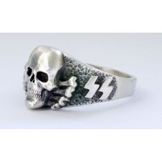 skull rings | ... ring from the World War Two period - German SS silver ring in a good