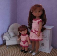 Patron robe au crochet pour poupée Chérie et Mini Corolline