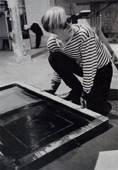 Andy Warhol working at The Factory