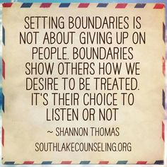 Boundaries are necessary for your soul.