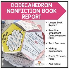 This nonfiction dodecahedron book report gives students an engaging and hands-on way to share what they've learned from reading. You get 19 pages of circle templates and instructions to help guide your students through the #bookreport process. These work great for project-based learning (PBL). Use them with 2nd, 3rd, 4th, or 5th grade upper elementary classroom or homeschool kids. #InformationalText #UpperElementary #Reading #UpperElementaryReading Book Report Templates, American History Lessons, Circle Template, 4th Grade Reading, Text Features, Teaching Social Studies, History Education, Teaching History, Project Based Learning