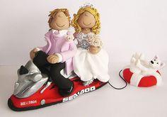 jet ski wedding cake topper