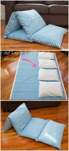 Où trouver un matelas de sieste ? Diy Sewing Projects, Sewing Crafts, Outdoor Movie Nights, Diy Pillows, Kid Beds, Diy Crafts For Kids, Fabric Crafts, Diy Design, Diy Gifts