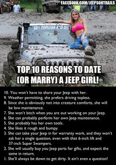 To my dear husband. Aren't you glad you married a Jeep girl? I hope you have some Jeep parts under the Christmas tree for me. Srt8 Jeep, Jeep Jku, Mopar, Jeep Humor, Toyota, Babe, Jeep Parts, Cool Jeeps, Jeep Wrangler Unlimited