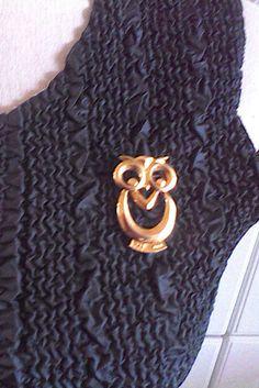 Avon owl eyeglass holder pin vintage pin by DixieVintageShoppe
