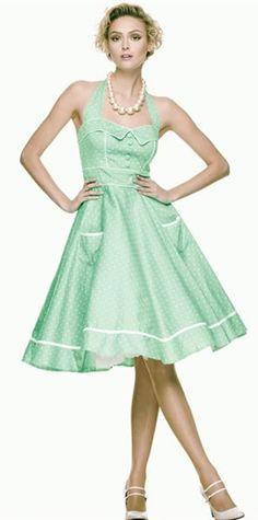 Hell Bunny Olivie Mint Green Vintage Pinup Dress Rockabilly Retro