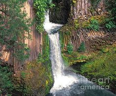 TOKETEE FALLS by Todd L Thomas. Original painting available direct from artist $1950, Paypal DreamscapeCreative@Gmail.com with painting title...Prints also available at www.ToddLThomas.net