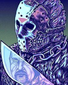 Jason Voorhees portrayed by Kane Hodder Halloween Illustration, Art And Illustration, Happy Friday, Friday The 13th, Horror Villains, Horror Films, Horror Icons, Instagram Challenge, Arte Horror