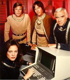 Battlestar Galactica (1978)  Check out the 'advanced computer' in the foreground ;-)