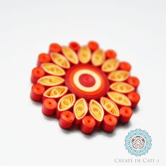 Sun mandala - quilling pendant