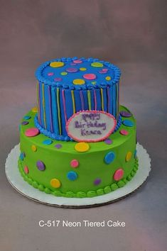 Neon Tiered cake