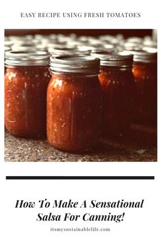 Who doesn't love a great salsa? This super easy, as spicy or not as you want it, salsa recipe made with fresh tomatoes and vinegar is as awesome to eat as Salsa Canning Recipes, Canned Salsa Recipes, Best Salsa Recipe, Tomato Salsa Recipe, Canning Salsa, Fresh Tomato Recipes, Fresh Tomato Salsa, Awesome Salsa Recipe, Best Homemade Salsa Recipe Fresh Tomatoes
