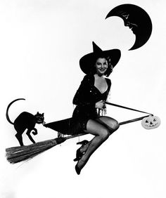 Actress Ava Gardner Dressed as a Witch, 1944 by Gatochy, via Flickr