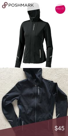 NWOT Brooks Utopia Hoodie - Small New without tags, Brooks Utopia thermal hoodie/Running Jacket. Black, ponytail hole in hoodie, thumb holes, size Small. Perfect for fall/winter running or to-fro gym/errands. Retails $110. Brooks Jackets & Coats