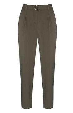 Pantalón de pinza color caqui