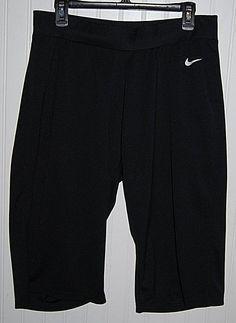 Nike Women's XL Black Polyester Short Crop Capris Workout Pants #Nike #ShortCaprisCropPants