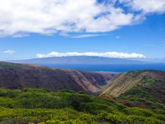 Looking at #Molokai from atop #Lanai's Koloiki Trail. Great #hike. #Hawaii #gohawaii #hiking #MyHometownPins