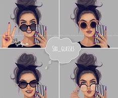 girly_m chicas chic y dibujadas con buen estilo