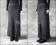 Check out this item in my Etsy shop https://www.etsy.com/listing/209217643/dark-black-original-designer-womens-wool
