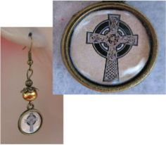 Burnished Gold Celtic Cross Charm Earrings Handmade Jewelry Accessories Fashion http://cgi.ebay.com/ws/eBayISAPI.dll?ViewItem&item=151315444093
