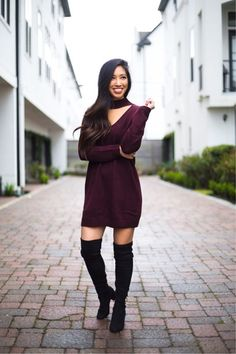 It's Fri-YAY! Headed out to little Italy for dinner tonight 🤗 If y'all are looking for cute but comfy option for #Valentines, this sweater dress is it! http://liketk.it/2uAuW #liketkit @liketoknow.it Shop my daily looks by following me on the LIKEtoKNOW.it app