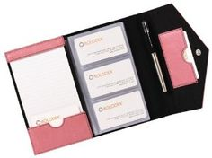 Amazon.com: Rolodex Envelope Pink Ribbon Card Case, 72 Card Capacity (1734452): Office Products