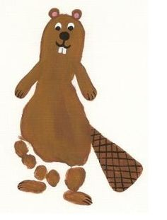 B- Footprint beaver! Lots of fun ideas for handprints and footprints on this site Patton Daycare Crafts, Baby Crafts, Toddler Crafts, Crafts For Kids, Daycare Rooms, Toddler Art, Danse Country, Canada Day Crafts, Animal Footprints