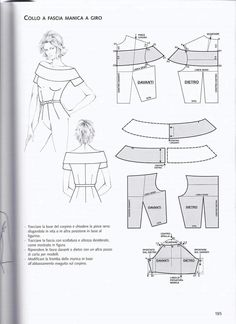 Diy Discover from La tecnica dei modelli uomo donna 1 Dress Sewing Patterns Sewing Patterns Free Clothing Patterns Sewing Tutorials Sewing Hacks Pattern Sewing Sewing Tips Bodice Pattern Collar Pattern Dress Sewing Patterns, Sewing Patterns Free, Clothing Patterns, Pattern Sewing, Skirt Patterns, Coat Patterns, Bodice Pattern, Collar Pattern, Sleeve Pattern