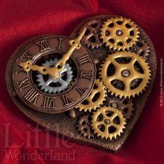 I Enjoy Creating Art In Butter Cookies Robots Steampunk, Steampunk Heart, Steampunk Crafts, Steampunk Design, Fancy Cookies, Valentine Cookies, Iced Cookies, Cookies Et Biscuits, Valentines