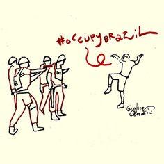 The Karate Kid #occupybrazil #brazil #brasilia #changebrazil Download High Resolution http://www.politicalcomics.info/occupy-brazil/ | Occupy Brazil