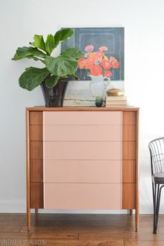 Love the combo with teak and mudd pink