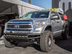 2015 SEMA Tundra with Camburg Suspension and Bumper with Fox Shocks and KC Hilites