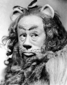 Bert Lahr as The Cowardly Lion. We had an orange longhair cat who had a lot of Cowardly Lion mannerisms. Old Movies, Great Movies, Classic Hollywood, Old Hollywood, Hollywood Stars, Bert Lahr, Wizard Of Oz 1939, Wizard Of Oz Lion, Cowardly Lion